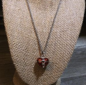 Nwt UO 316L SS Heart Shaped Box necklace,VDayGift